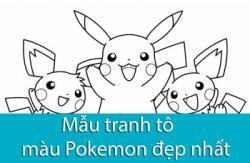 50+ mẫu tranh tô màu pokemon đẹp sinh động cho bé tập tô